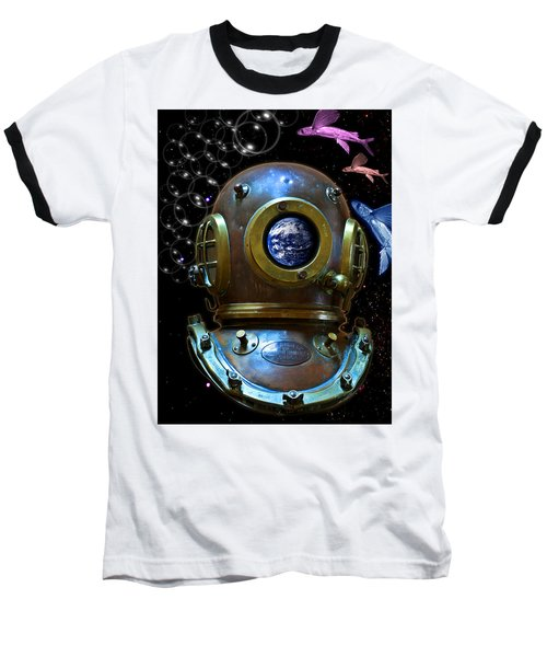 Deep Diver In Delirium Of Blue Dreams Baseball T-Shirt