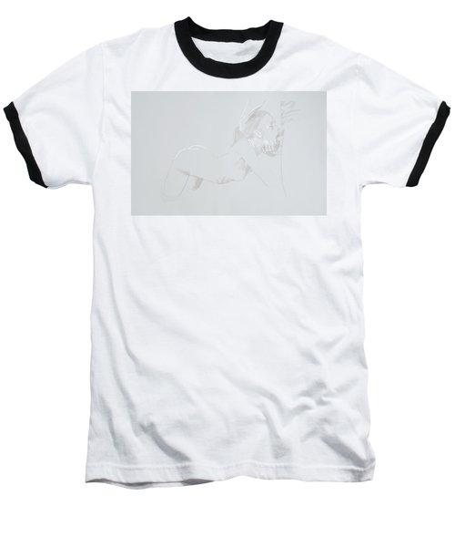 Baseball T-Shirt featuring the mixed media Deepthroat by TortureLord Art