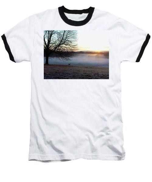 Deer At Dawn Baseball T-Shirt