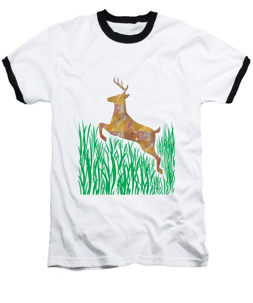 Deer In Grass Baseball T-Shirt