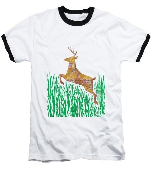 Deer In Grass Baseball T-Shirt