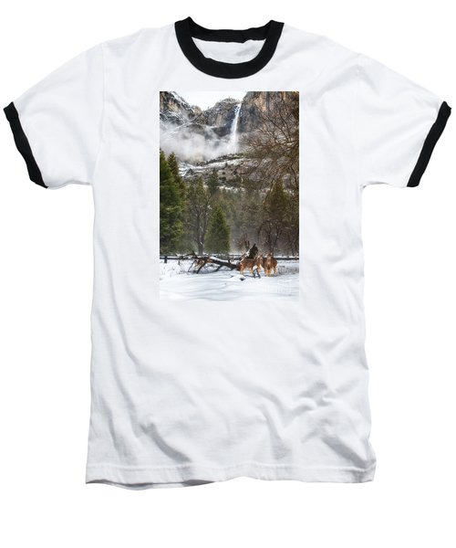 Deer Of Winter Baseball T-Shirt