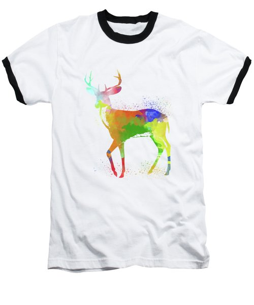 Deer Watercolor 1 Baseball T-Shirt