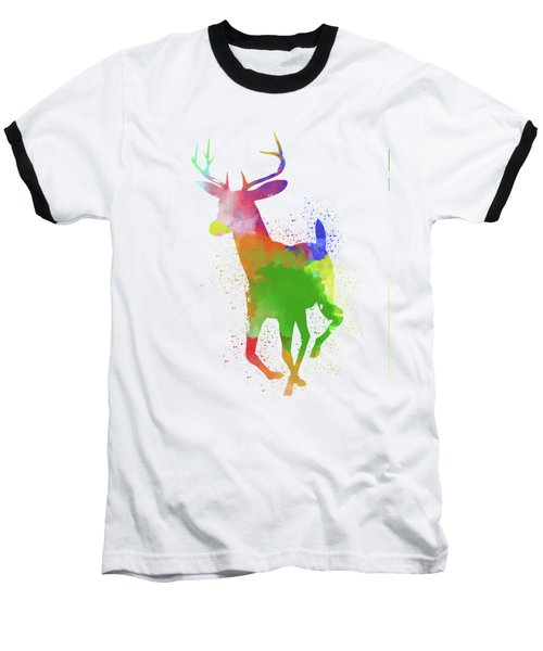 Deer Watercolor 2 Baseball T-Shirt