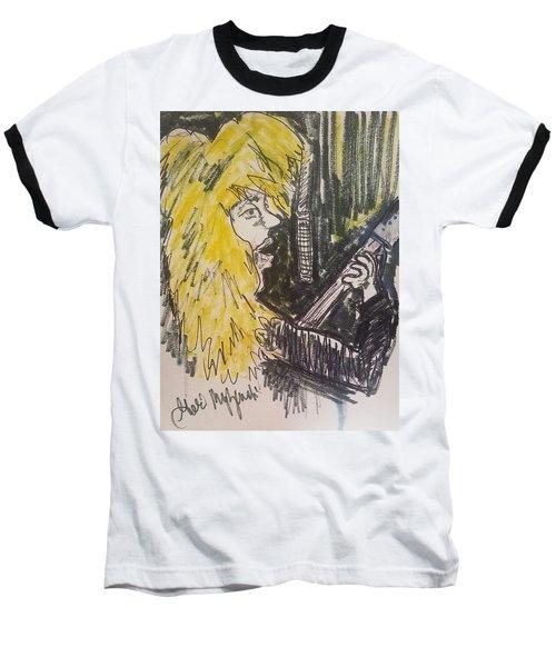 Def Leppard Love Bites Baseball T-Shirt by Geraldine Myszenski
