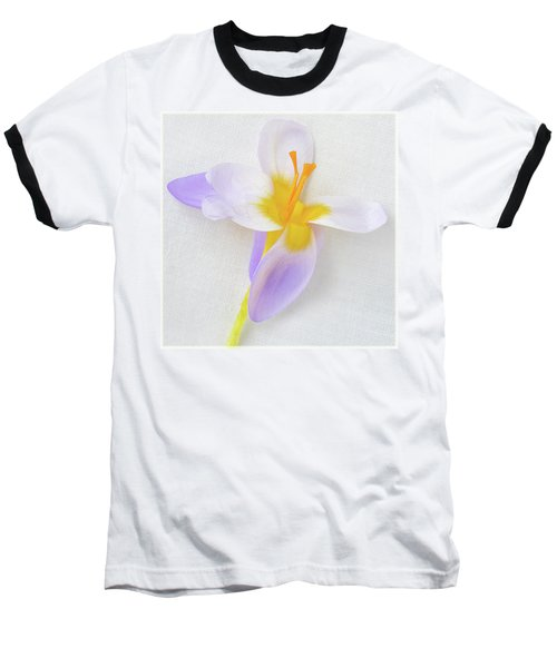 Baseball T-Shirt featuring the photograph Delicate Art Of Crocus by Terence Davis