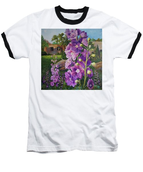 Delightful Delphiniums Baseball T-Shirt