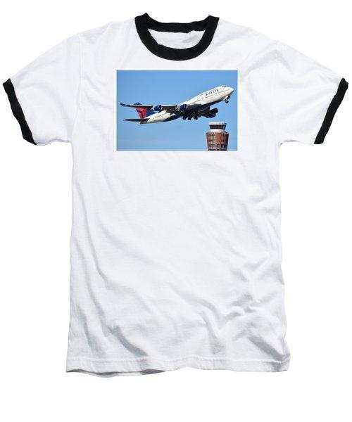 Delta Boeing 747-451 N674us Phoenix Sky Harbor January 12 2015 Baseball T-Shirt