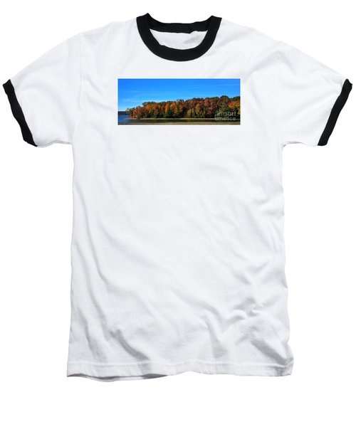 Baseball T-Shirt featuring the photograph Delta Lake State Park Foliage by Diane E Berry