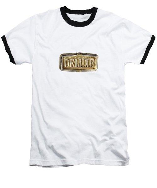 Deluxe Chrome Emblem Baseball T-Shirt by YoPedro
