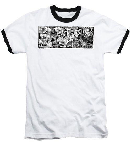 Democrat Guernica Baseball T-Shirt