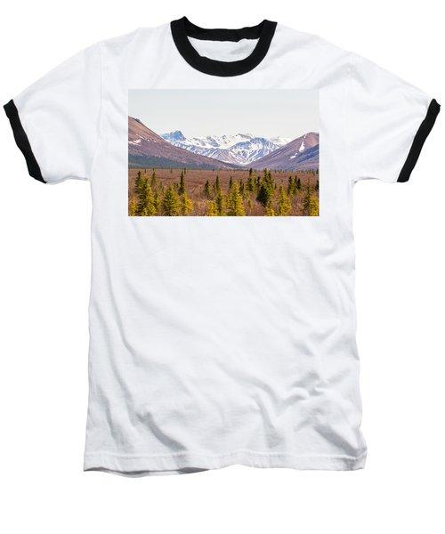Denali Wilderness Beauty Baseball T-Shirt by Allan Levin