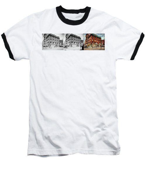 Baseball T-Shirt featuring the photograph Dentist - Peerless Painless Dental Parlors 1910 - Side By Side by Mike Savad