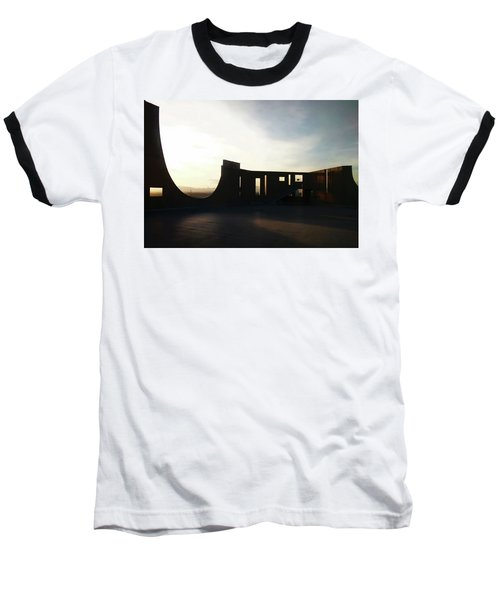 Baseball T-Shirt featuring the photograph Denver Art Museum Ponti Deck by Marilyn Hunt