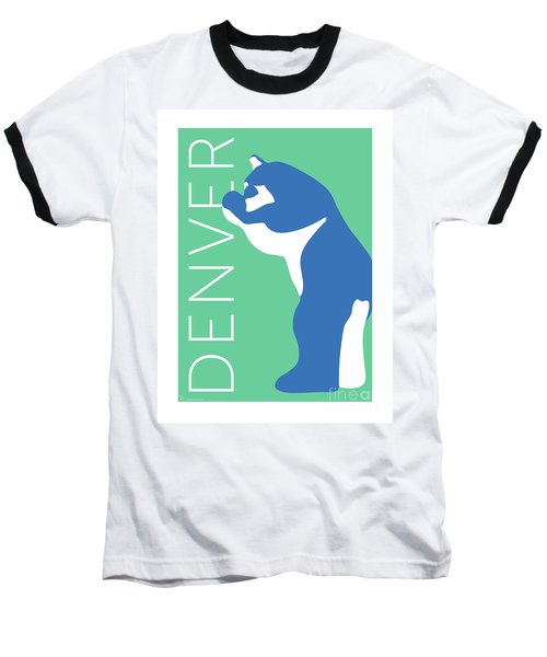 Denver Blue Bear/aqua Baseball T-Shirt