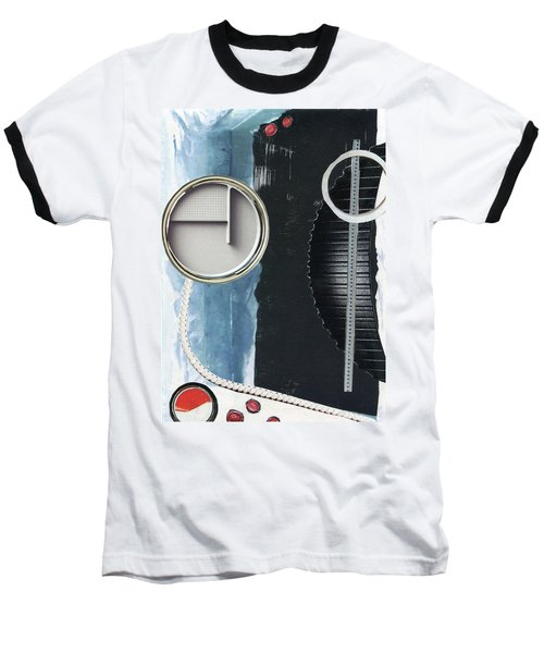 Baseball T-Shirt featuring the painting Depth Onto Space by Michal Mitak Mahgerefteh