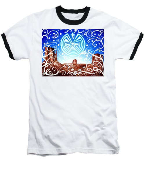 Baseball T-Shirt featuring the painting Desert Hallucinogens by Michelle Dallocchio