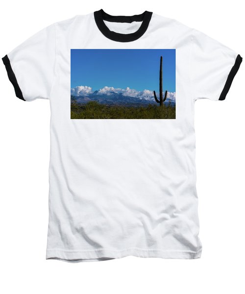 Desert Inversion Cactus Baseball T-Shirt