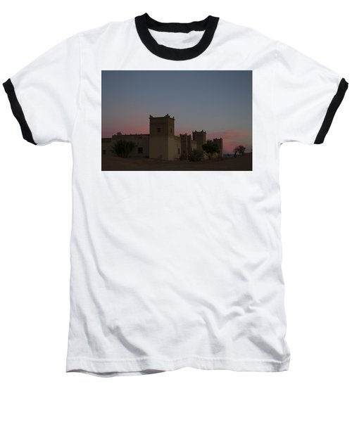 Baseball T-Shirt featuring the tapestry - textile Desert Kasbah Morocco 2 by Kathy Adams Clark