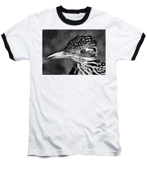 Desert Predator, Black And White Baseball T-Shirt