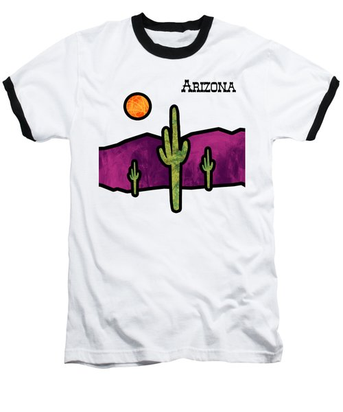 Desert Stained Glass Baseball T-Shirt by Methune Hively
