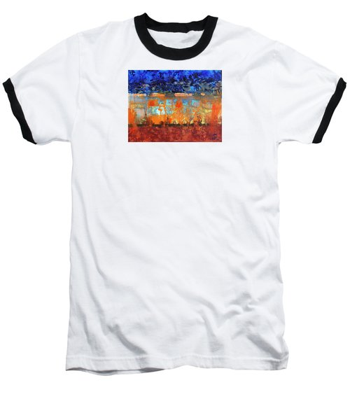 Baseball T-Shirt featuring the painting Desert Strata by Walter Fahmy