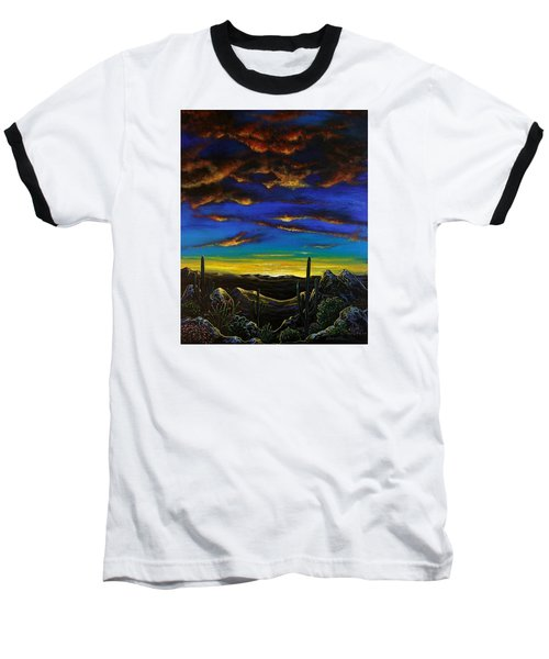 Baseball T-Shirt featuring the painting Desert View by Lance Headlee