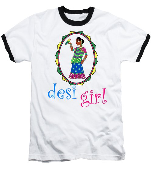 Desi Girl Baseball T-Shirt