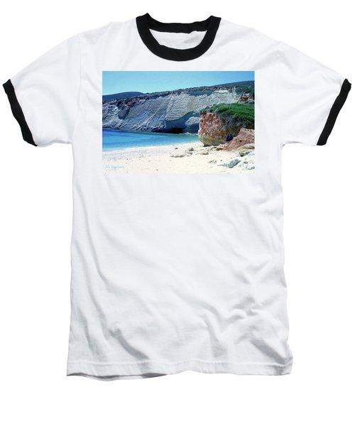 Desolated Island Beach Baseball T-Shirt