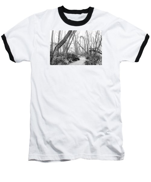 Destruction In Black And White Baseball T-Shirt