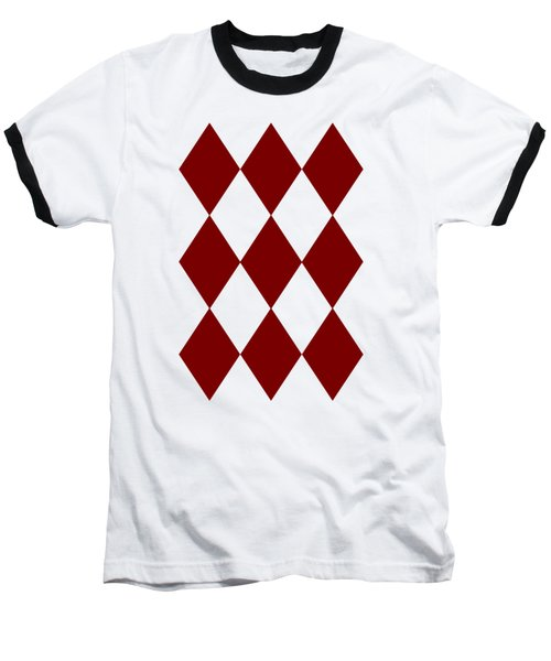 Diamond Poker Card Game Symbol Abstract Modern Art On T-shirts N Pod Navinjoshi Fineartameririca Baseball T-Shirt