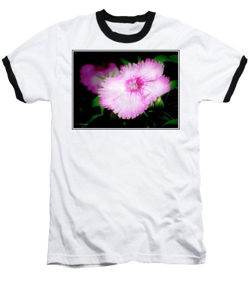 Dianthus Flower Baseball T-Shirt