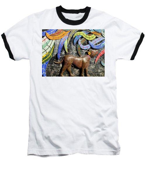 Diego Rivera Mural 4 Baseball T-Shirt by Randall Weidner