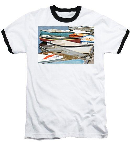 Dinghys At Bearskin Neck Baseball T-Shirt