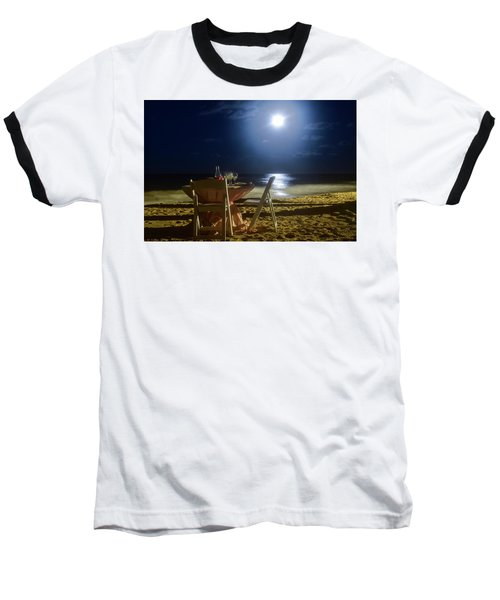 Dinner For Two In The Moonlight Baseball T-Shirt