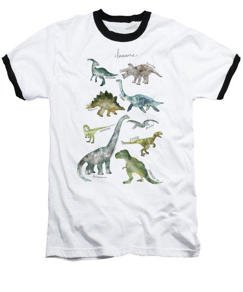 Dinosaurs Baseball T-Shirt by Amy Hamilton