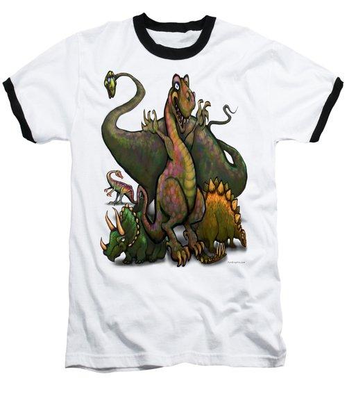 Dinosaurs Baseball T-Shirt by Kevin Middleton