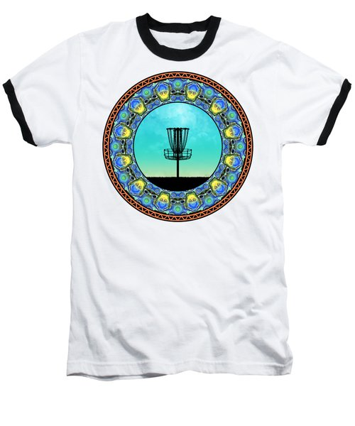 Disc Golf Abstract Basket 5 Baseball T-Shirt