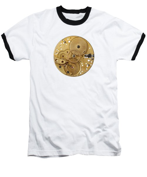Baseball T-Shirt featuring the photograph Dismantled Clockwork Mechanism by Michal Boubin