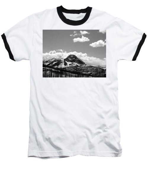 Divide In Blackand White Baseball T-Shirt