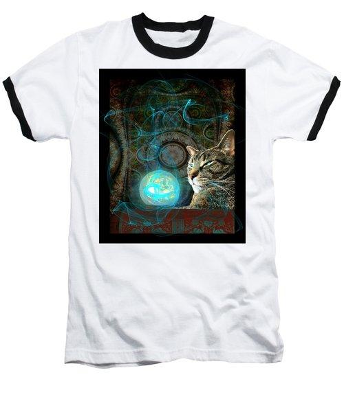 Baseball T-Shirt featuring the digital art Divination by Anastasiya Malakhova