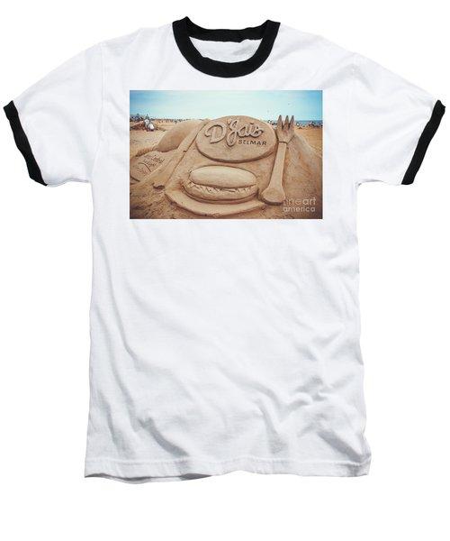 Baseball T-Shirt featuring the photograph D'jais Belmar Sandcastle by Colleen Kammerer