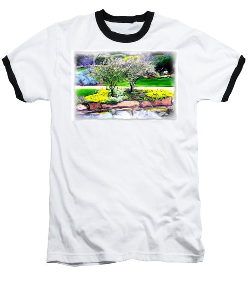 Baseball T-Shirt featuring the photograph Do-00066 Lake Walk by Digital Oil