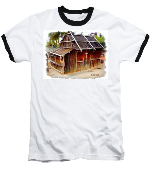 Baseball T-Shirt featuring the photograph Do-00129 Old Cottage by Digital Oil