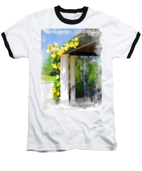 Baseball T-Shirt featuring the photograph Do-00137 Yellow Roses by Digital Oil