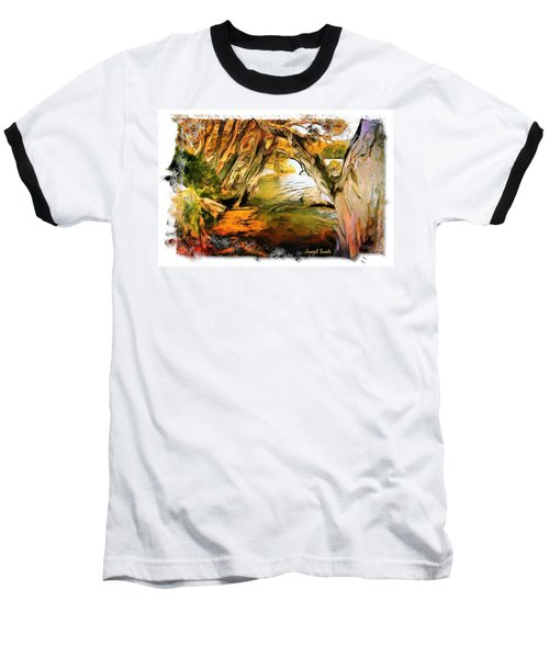 Baseball T-Shirt featuring the photograph Do-00268 Trees On Water In Avoca Estuary by Digital Oil
