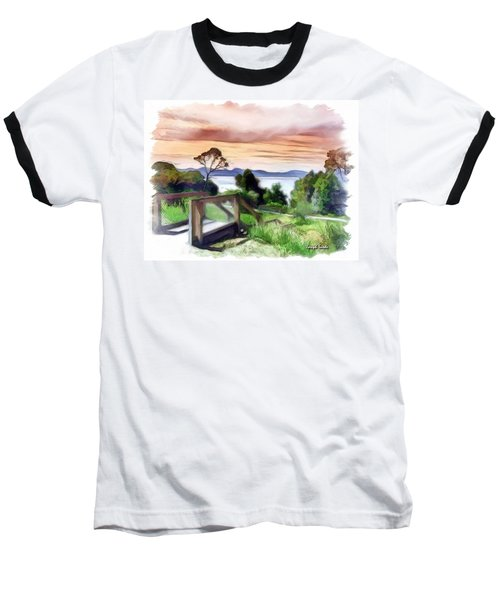 Baseball T-Shirt featuring the photograph Do-00272 Look Out From Sarah Island by Digital Oil
