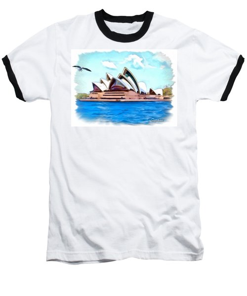 Baseball T-Shirt featuring the photograph Do-00293 Sydney Opera House by Digital Oil