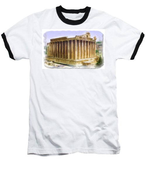 Baseball T-Shirt featuring the photograph Do-00312 Temple Of Bacchus In Baalbeck by Digital Oil