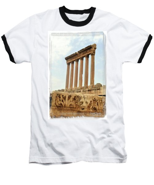 Baseball T-Shirt featuring the photograph Do-00314 The 6 Corinthian Columns In Baalbeck by Digital Oil